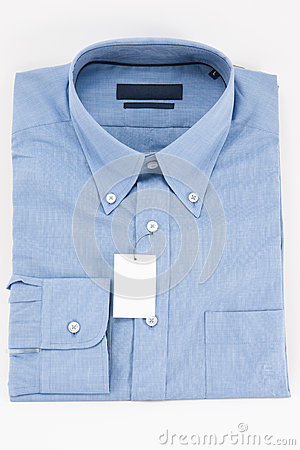 Blue collar and long sleeves shirt