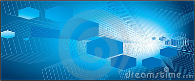 Blue color honey comb background