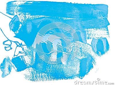 Blue color paint