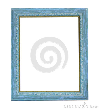 Blue color picture frame