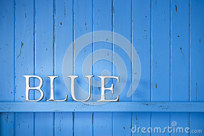 Blue Color Word Background