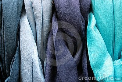 Blue Coloured Cotton Gradation