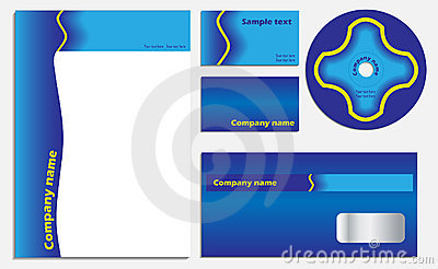 Blue company vector set