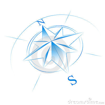 Free Blue Compass Stock Photo - 14497040