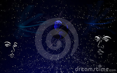 Blue conceptual