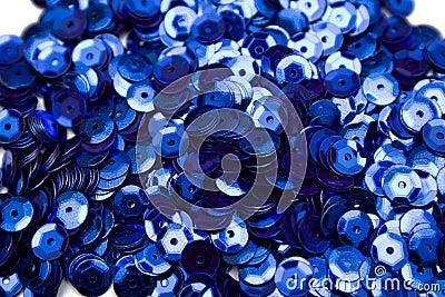 Blue confettis