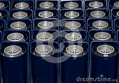 Blue containers