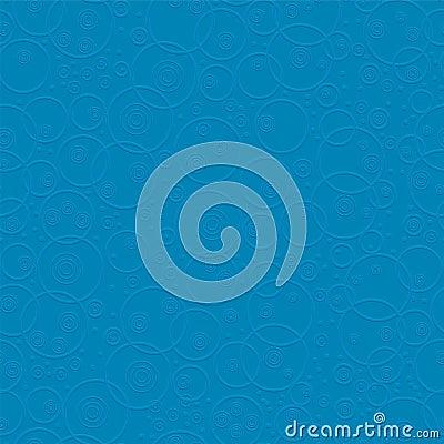 Blue convexed circles. Seamless pattern.