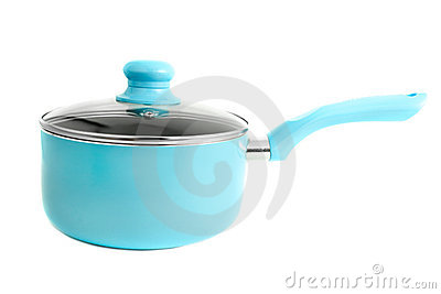 Blue cooking pot