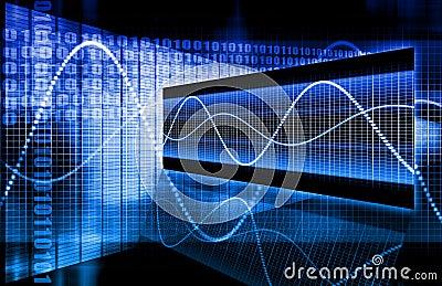 Blue Corporate Data Diagram