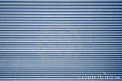 Blue corrugated cardboard