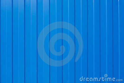 Blue corrugated iron