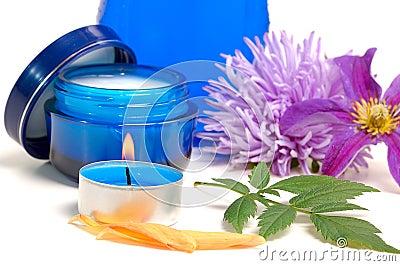 Blue cosmetic cream