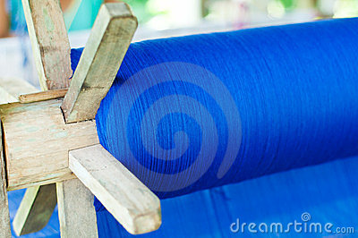 Blue cotton weave