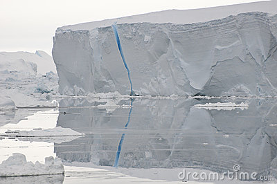 Blue crack iceberg