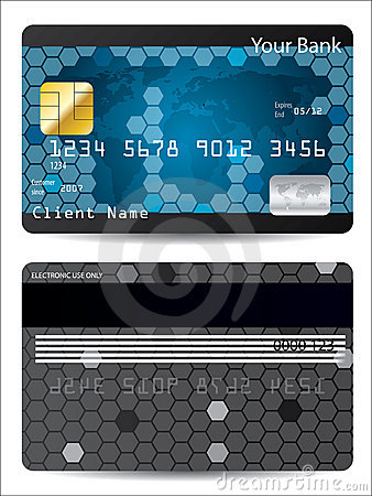 Blue credit card design