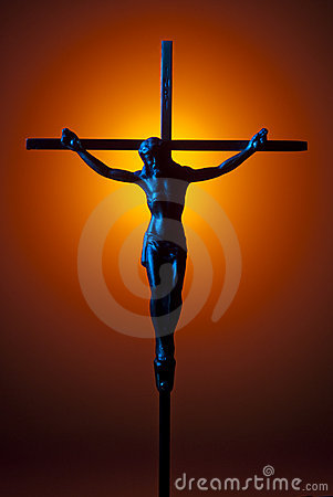 Blue crucifix