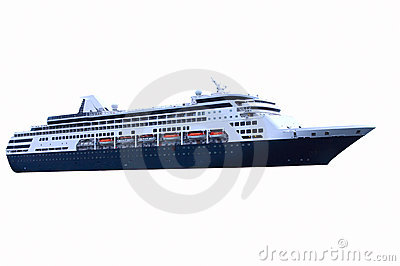 Blue Cruise Ship