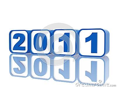Blue cubes 2011