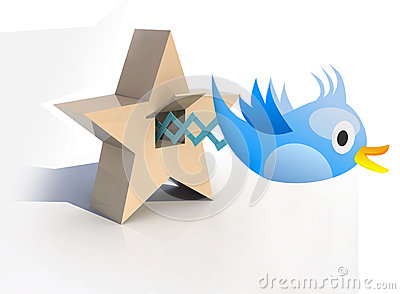 Blue Cuckoo tweets and sings