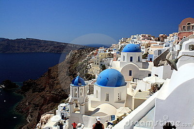 Blue Cupolas of Oia, Santorini