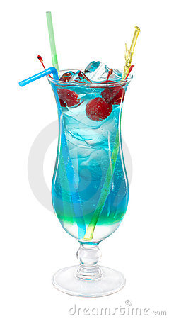 Free Blue Curacao Cocktail Royalty Free Stock Images - 22251329