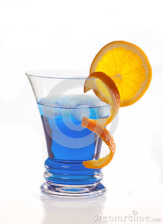 Free Blue Curacao Cocktail Royalty Free Stock Image - 24705786