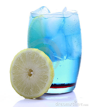 Free Blue Curacao Drink Royalty Free Stock Photos - 18227438