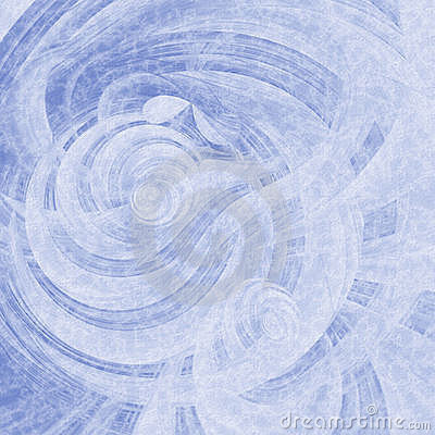 Blue Curl Striped Abstract