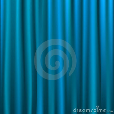 silver blue curtain