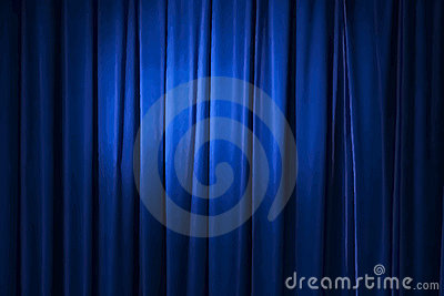 Blue curtain, vector