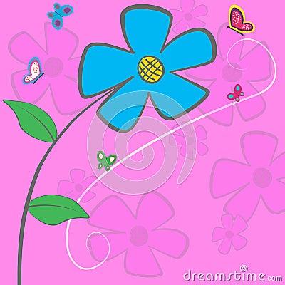 Blue Daisy Card