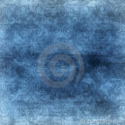 Blue Damask Background