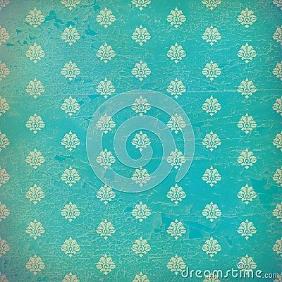 Damask Wallpaper on Blue Damask Wallpaper