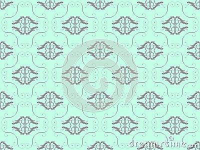 Blue damask seamless wallpaper