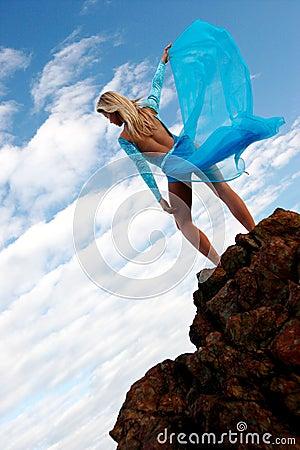 Free Blue Dancer Stock Photo - 163470