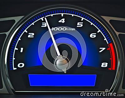Blue dashboard