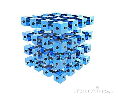 Blue Data Cubes Bonded