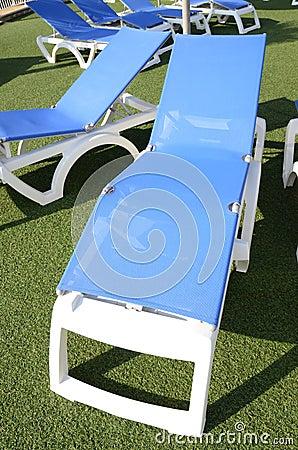 Blue deckchair