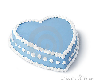 Blue decorated cake