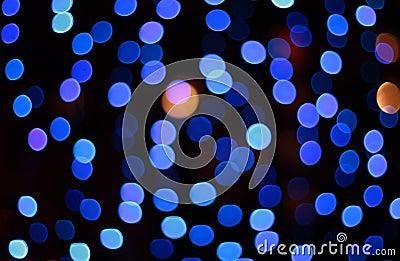 Blue defocus spots background
