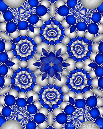 Blue delft wallpaper