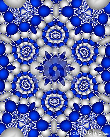 Blue delft wallpaper