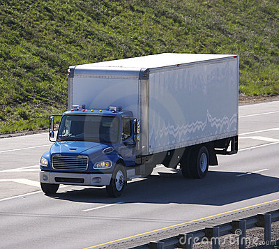 Free Blue Delivery Truck Royalty Free Stock Photos - 716838