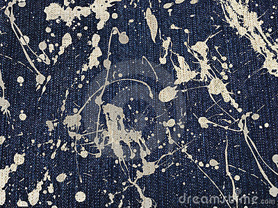 Blue denim stained cloth background