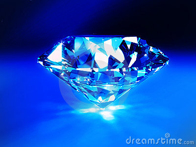 Blue Diamond Royalty Free Stock Photos - Image: 7654278