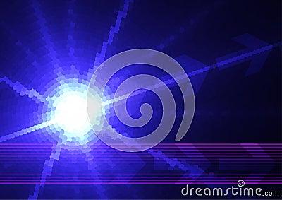 Blue digital star