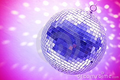 Blue disco globe