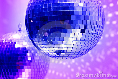 Blue disco globes