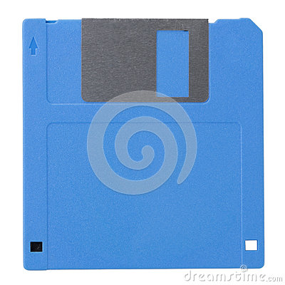 Blue diskette (with clipping path)